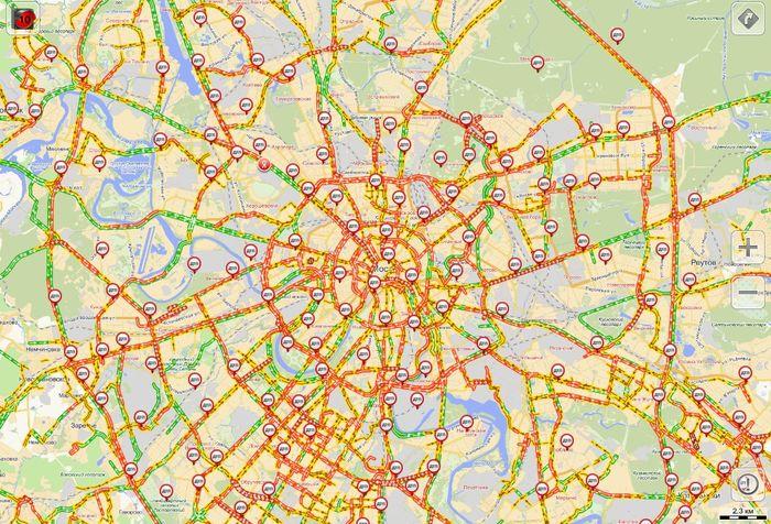 Самые загруженные дороги в Москве (фото + текст)