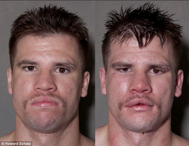 Boxeadores, antes y después de la lucha 1