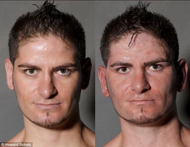 Boxeadores, antes y después de la lucha 3