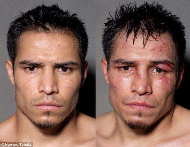 Boxeadores, antes y después de la lucha 6