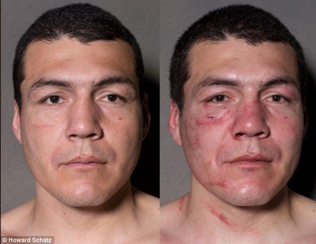 Boxeadores, antes y después de la lucha 7