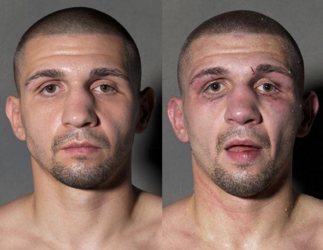 Boxeadores, antes y después de la lucha 8
