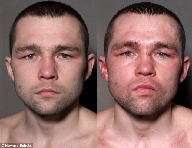 Boxeadores, antes y después de la lucha 9