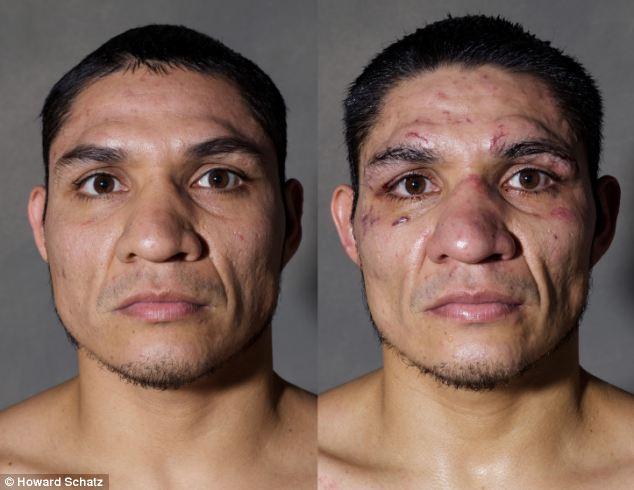 Boxeadores, antes y después de la lucha 10