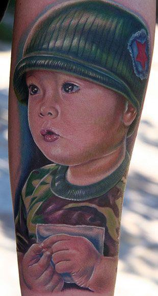 Портретные татумровки мастера Майка Девре (76 фото)