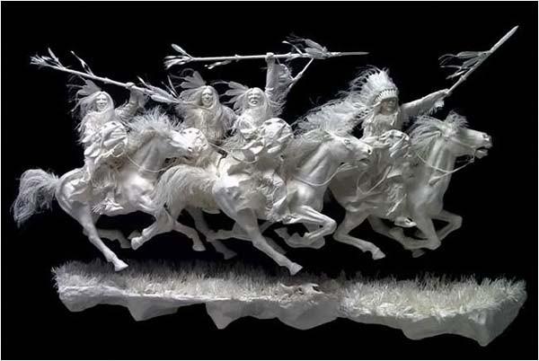 Бумажные  <br>скульптуры (62 фото)