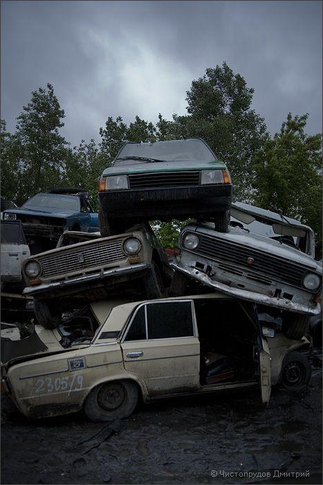 автомобилей в москве фото свалка