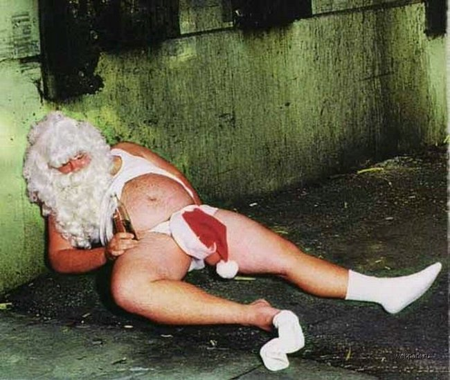 Забавный Санта (27 фото)