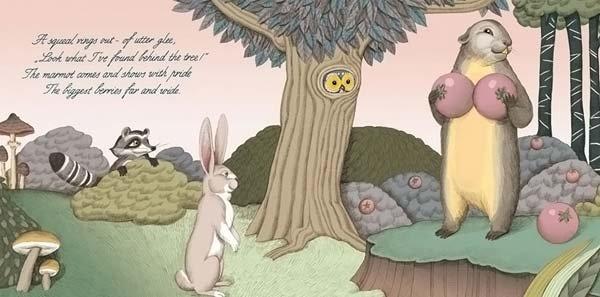 <b>Вдруг раздался пронзительный крик, полный ликования: «Смотрите, что я нашла за деревом!» Самка сурка вышла и с гордостью показала свои самые большие ягоды.</b><br/><br/>