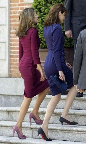 Карла Бруни встретилась с испанской принцессой Летицией (7 фото)