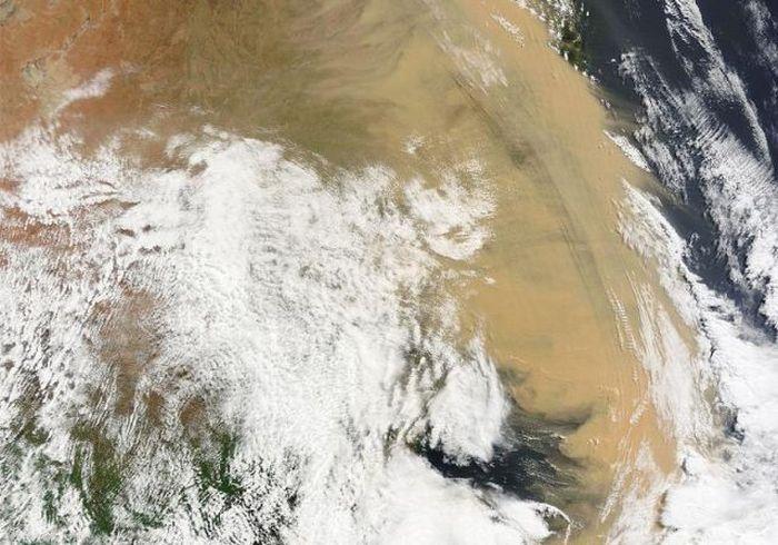 Песчаная буря - Австралия (сентябрь 2009)