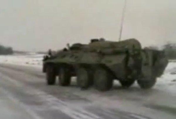 Армейские покатушки: дрифт на БТР... (видео)