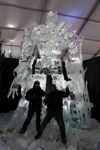 Гигантский ледяной трансформер (5 фото)
