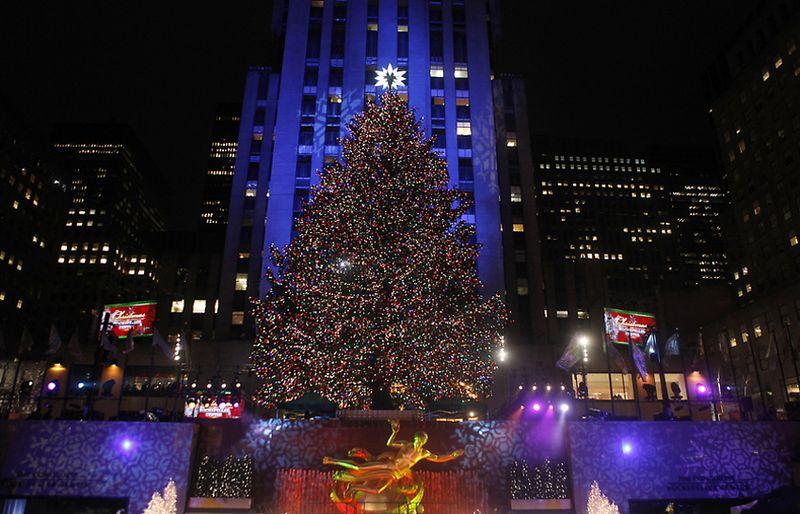 4. Рождественскую ель в этом году установили 12 ноября. Дерево будет радовать своей красотой нью-йоркцев и туристов до 7 января 2011 г. Полюбоваться на главную рождественскую елку США, как ожидается, приедут в этом году около двух с половиной миллиона человек.