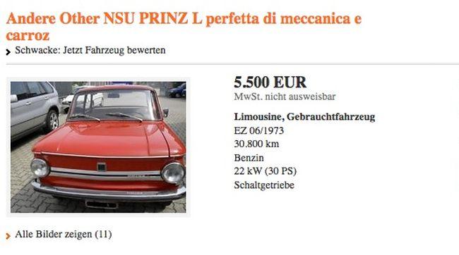 Стоимость Советских автомобилей в Германии (8 фото)