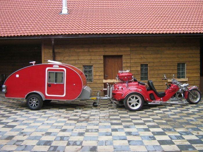 """Трайк+дом на колесах от чешского """"кулибина"""" (9 фото)"""