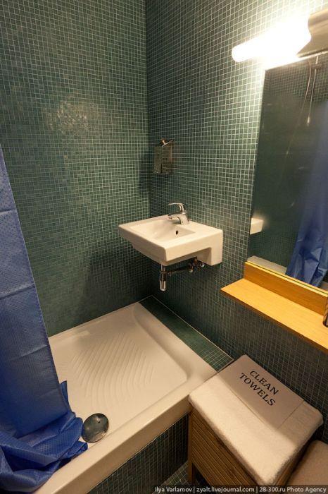 Душевые комнаты для сотрудников.