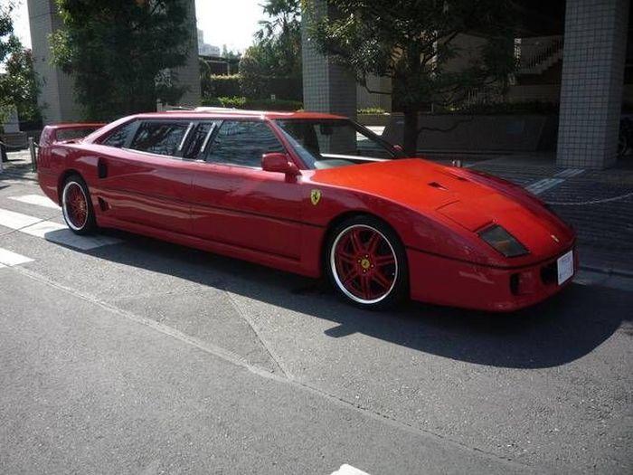 Лимузин из Ferrari F40 в Японии (3 фото)
