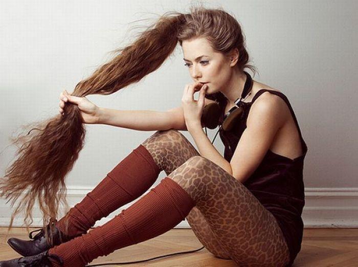 девочка с длинными волосами секс
