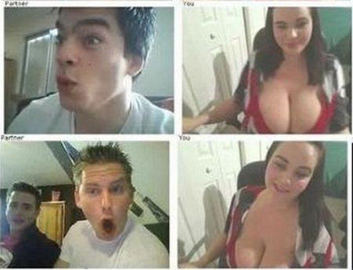 Реакция мужчин на большую женскую грудь (16 фото)