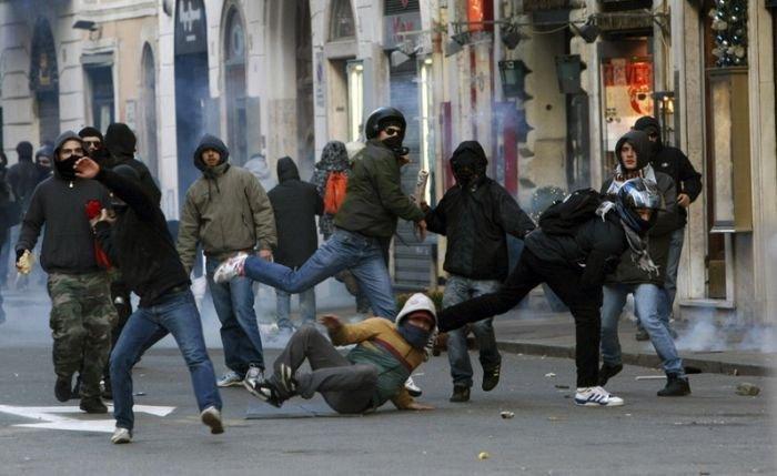 Беспорядки в Риме нанесли ущерб в 20 млн евро (36 фото)