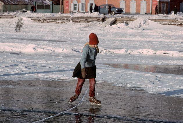 Катание на коньках. Байкал, 1966
