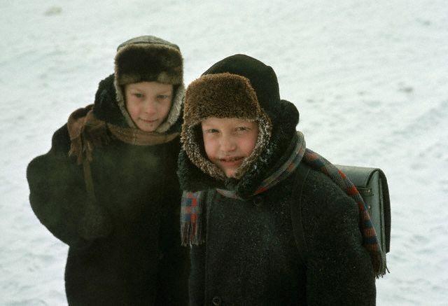Школьники в Иркутске, 1966