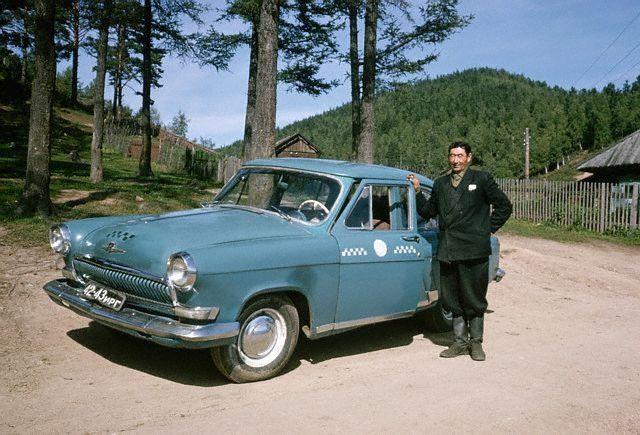 Водитель такси. Листвянка, 1964