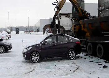 Уничтожение НОВОГО Hyundai Solaris