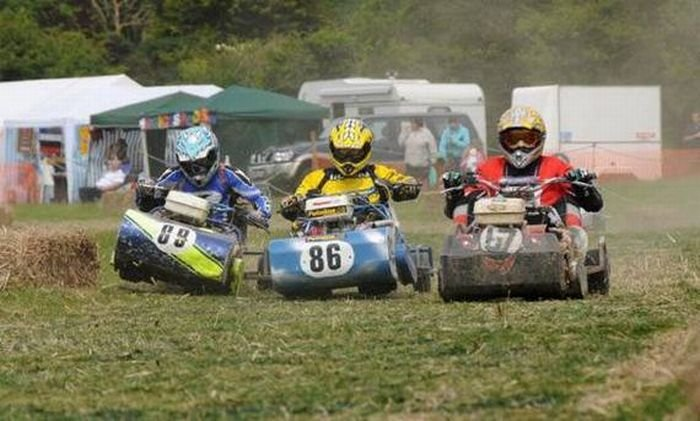 Мировой чемпионат по гонкам на газонокосилках (23 фото)
