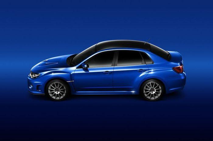 Заряженый седан Subaru WRX STI tS 2011 (33 фото)