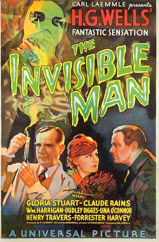 """11. Подлинная рекламная афиша фильма """"Человек-Невидимка"""" студии Universal Picture, вышедшего на экраны в 1933 г. (Примерная цена 200-300 тыс. долл)."""