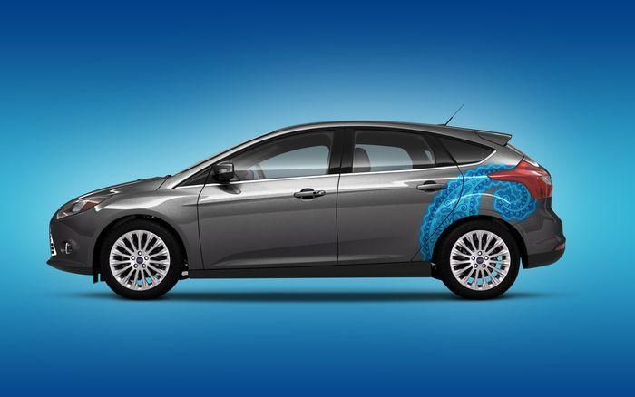 Виниловые наклейки для нового Ford Focus 3 (8 фото)