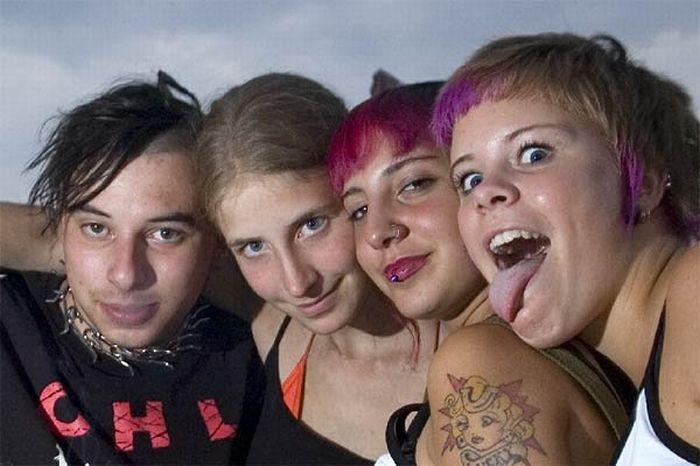 Европейские девушки панки (125 фото)