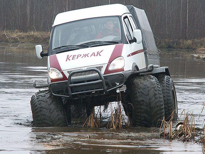 Кержак - болото-вездеход на базе ГАЗели (15 фото)