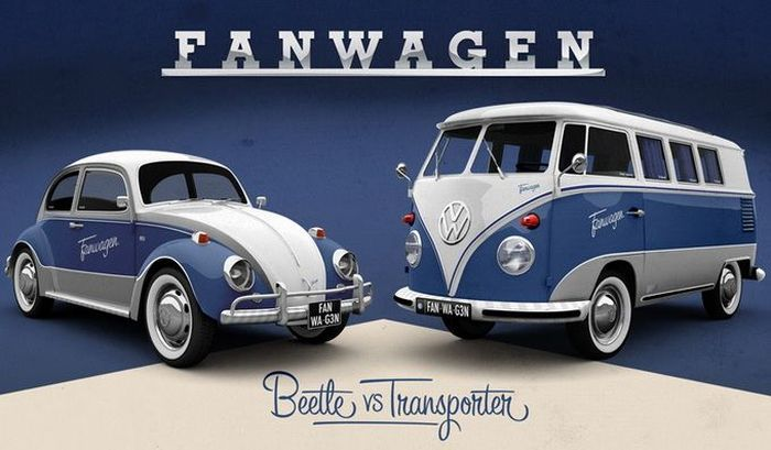 Volkswagen и Facebook совместно выпустят спецверсию Fanwagen (9 фото)