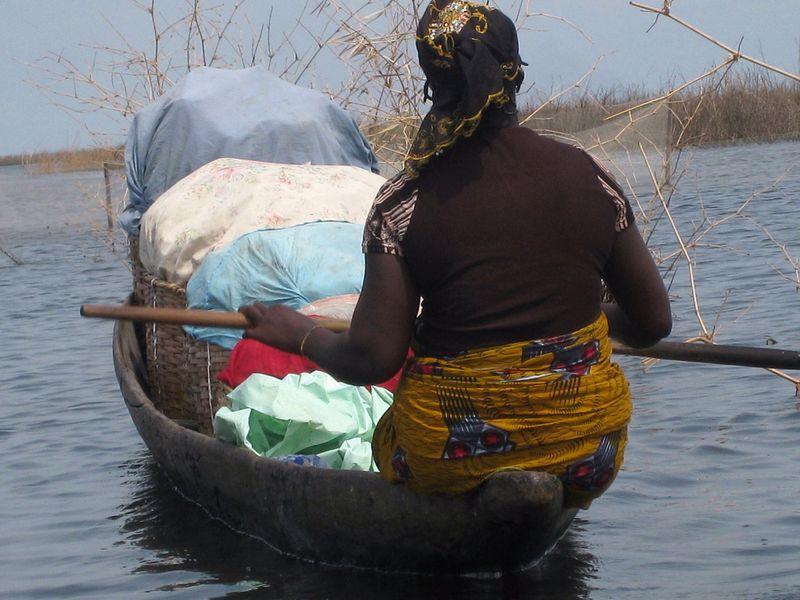 239 Африканская Венеция: Город озеро Ганвье