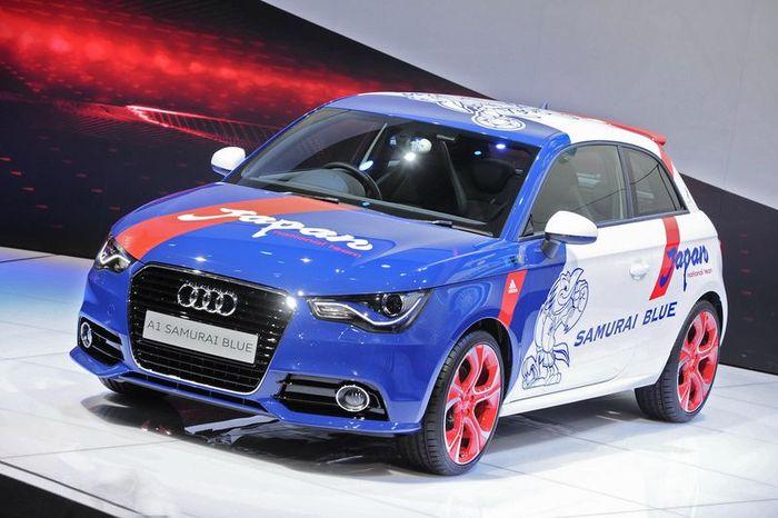 Audi A1 Samurai Blue - спецверсия для японской сборной по футболу (18 фото)