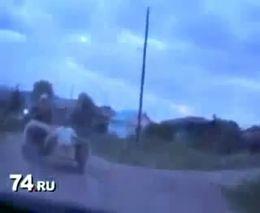 Погоня за мотоциклом в Челябинске