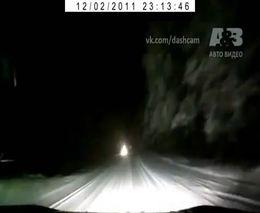Неожиданное препятствие на ночной дороге