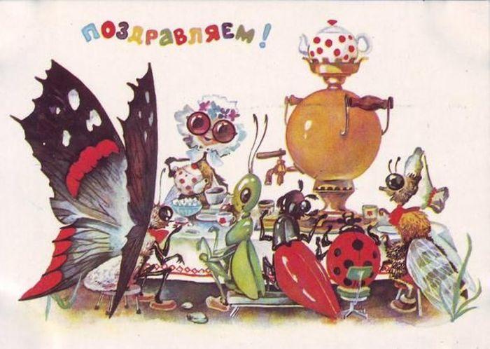 Детские открытки советской эпохи (23 фото)