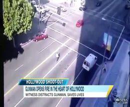 Сумасшедший парень устроил стрельбу по машинам в Голливуде