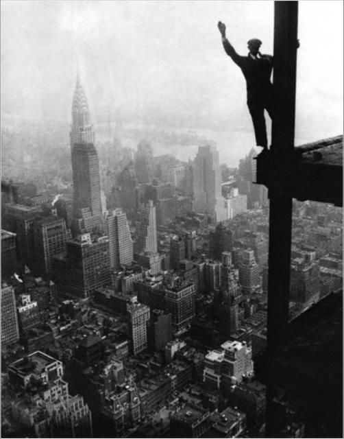 Как строились небоскребы в Нью-Йорке (30 фото)