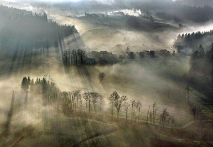 Очень красивые фотографии тумана (101 фото)