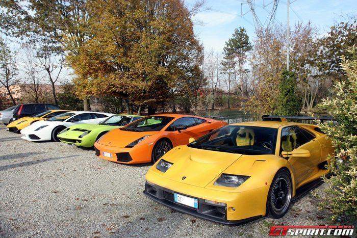 Закрытие сезона клуба Lamborghini в Италии (44 фото+3 видео)
