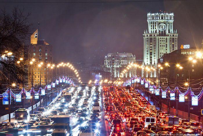 Фотографии московских пробок (24 фото)
