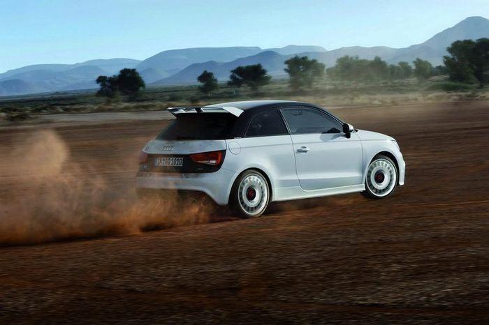 Audi A1 Quattro получила 256 л.с. и белую окраску кузова (45 фото)