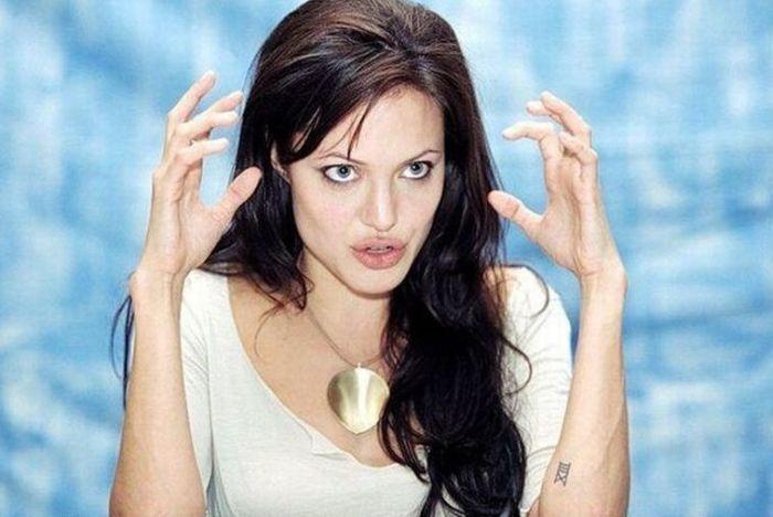 Прикольные фотки Анджелины Джоли (79 фото)