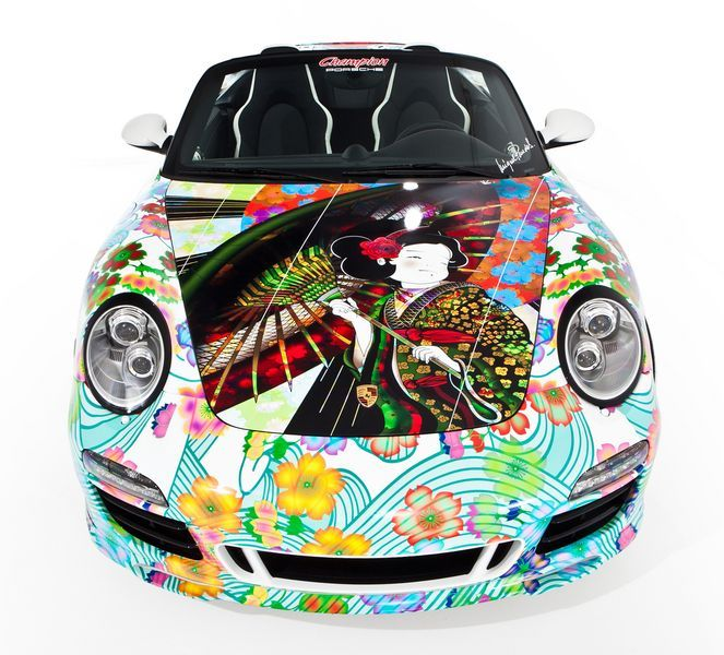 Дизайнерская раскраска Porsche 911 Speedster (8 фото)