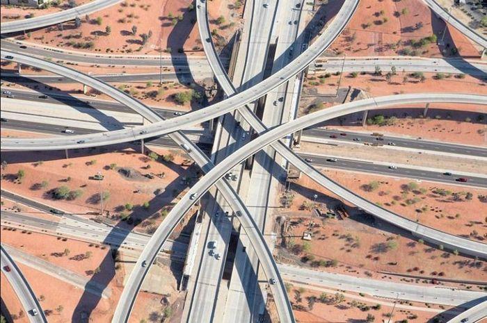 Дорожные развязки в Техасе (8 фото)